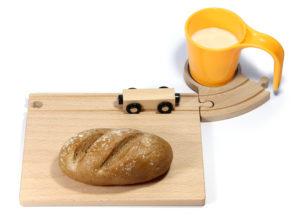 houten treinrails ontbijtset Neue Freunde